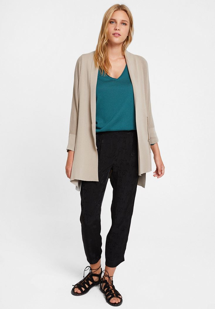 Cardigan with Zipper