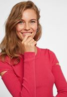 Women Pink Cut Out Detailed Knitwear