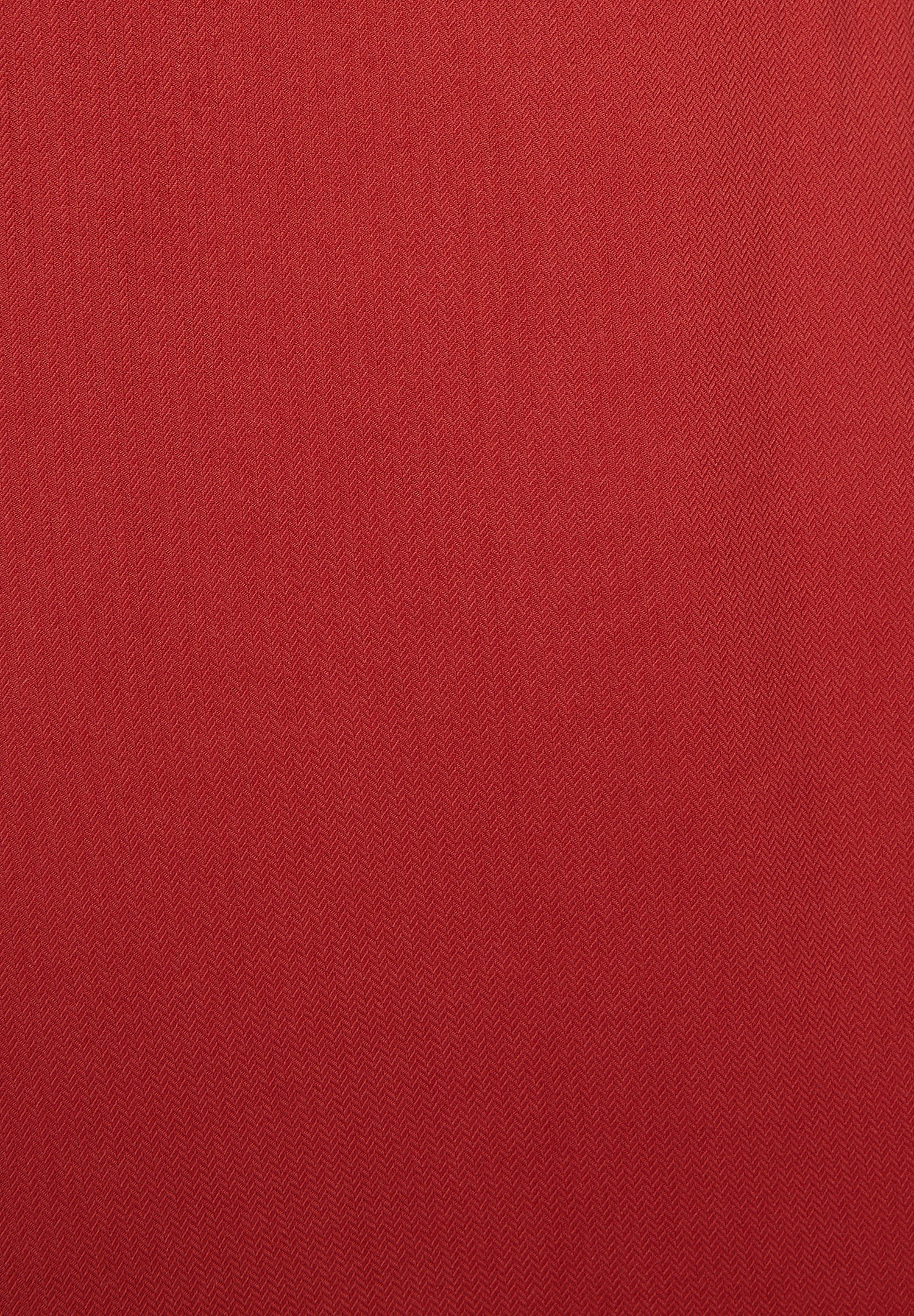 Women Red Viscose Pleated Skirt