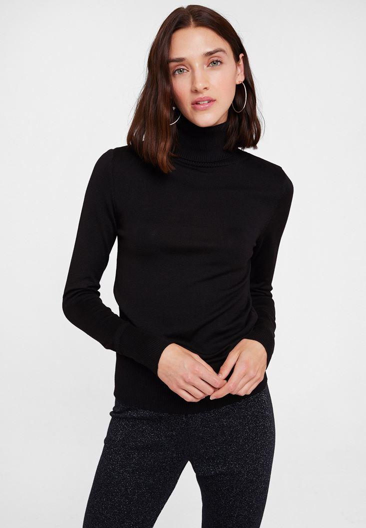 Black Elastic Waist Knitwear