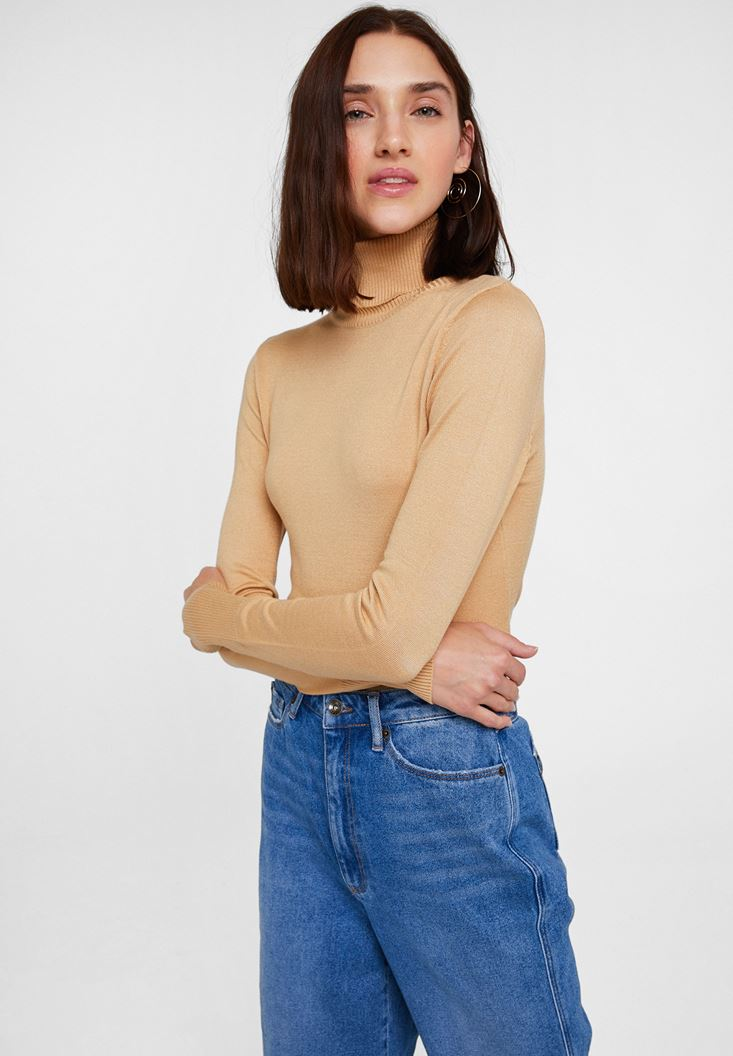 Brown Elastic Waist Knitwear