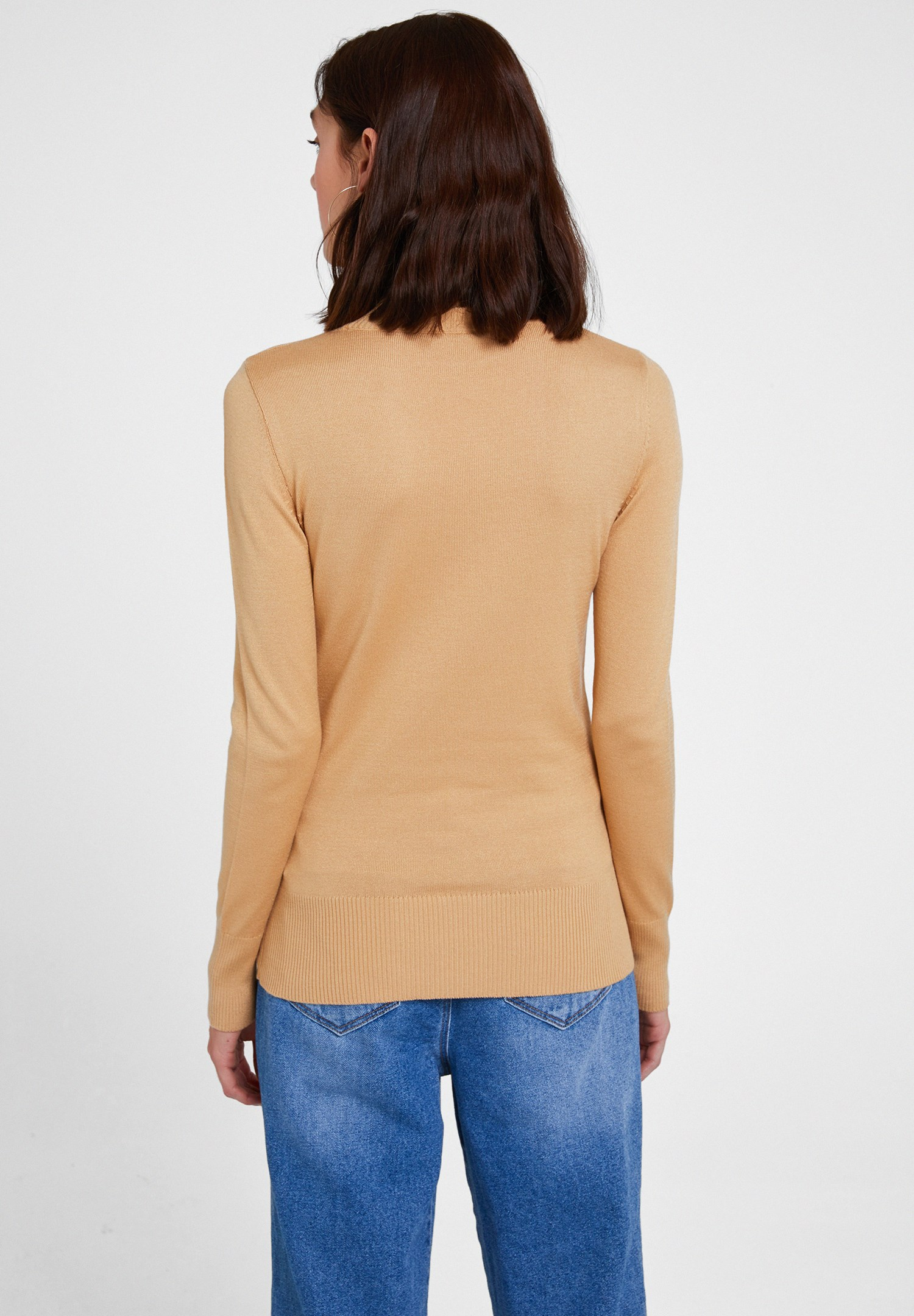 Women Brown Elastic Waist Knitwear