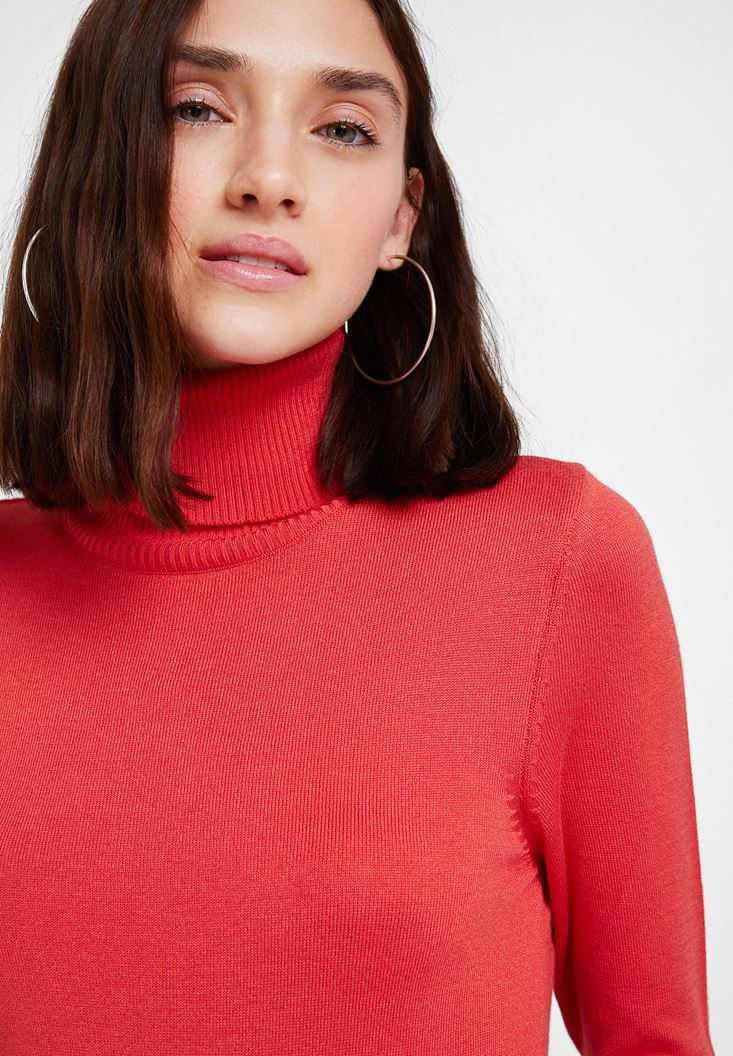 Red Elastic Waist Knitwear