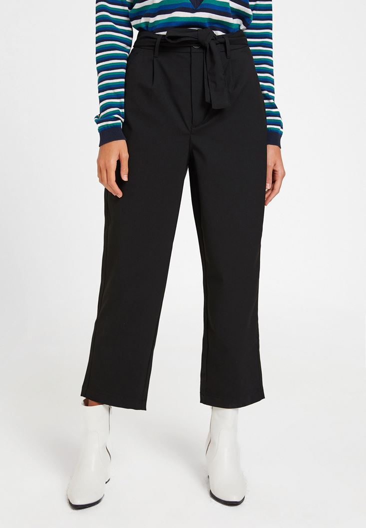 Black Trousers with Pocket Details