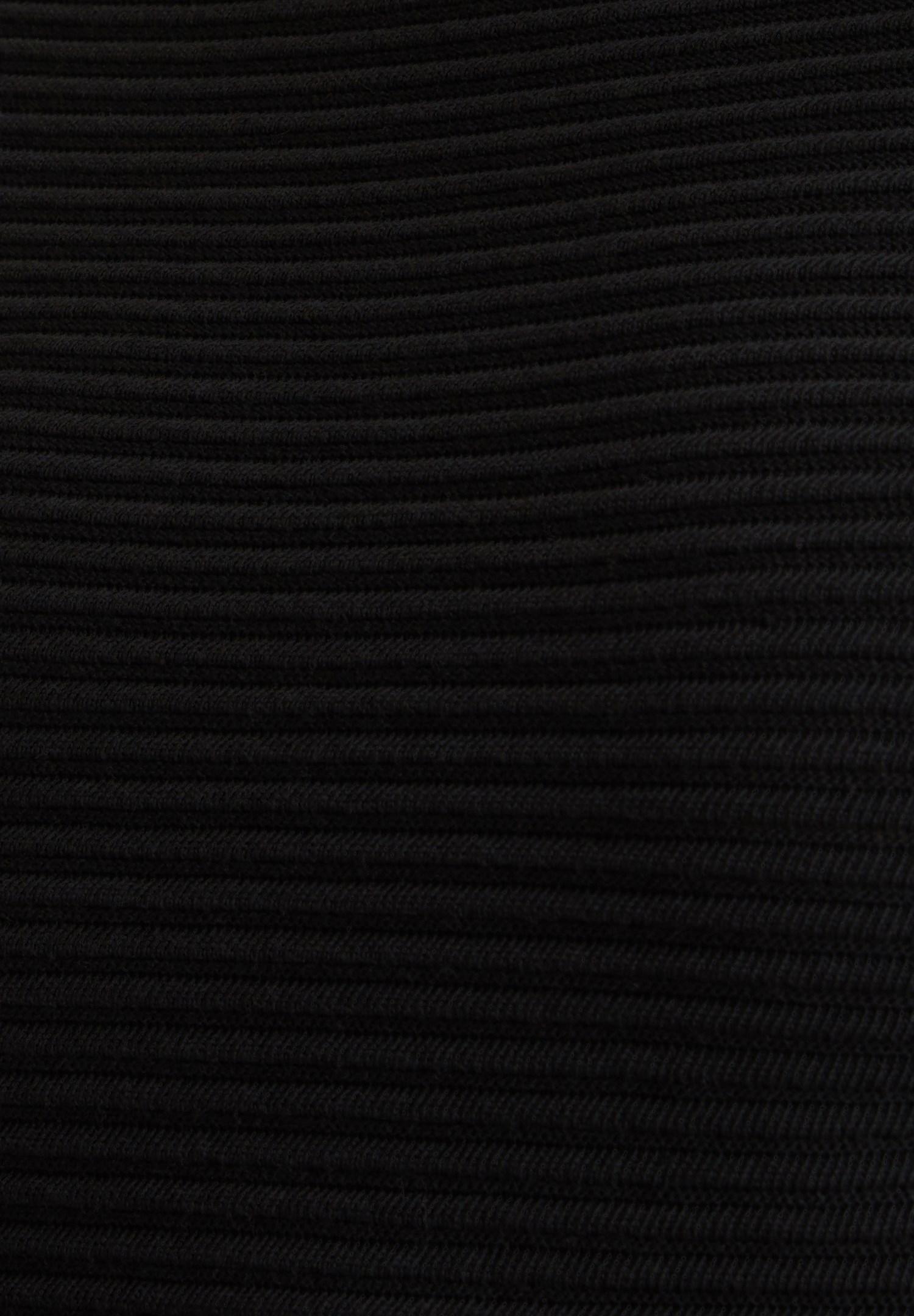 Bayan Siyah Yaka Detaylı Triko Elbise