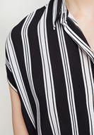 Women Black Shirt with Mix Pattern