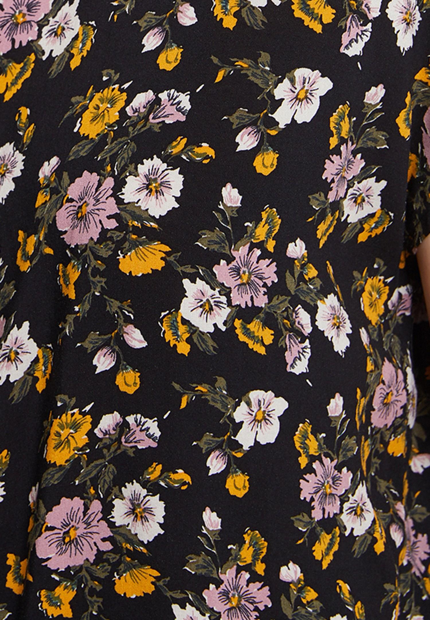 Bayan Çok Renkli Karışık Desenli Kısa Kollu Gömlek