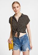 Women Mixed Shirt with Mix Pattern