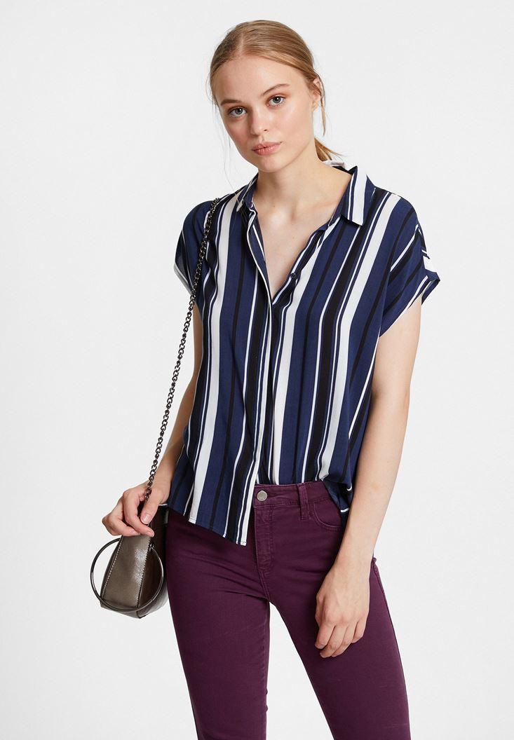 Mixed Shirt with Mix Pattern