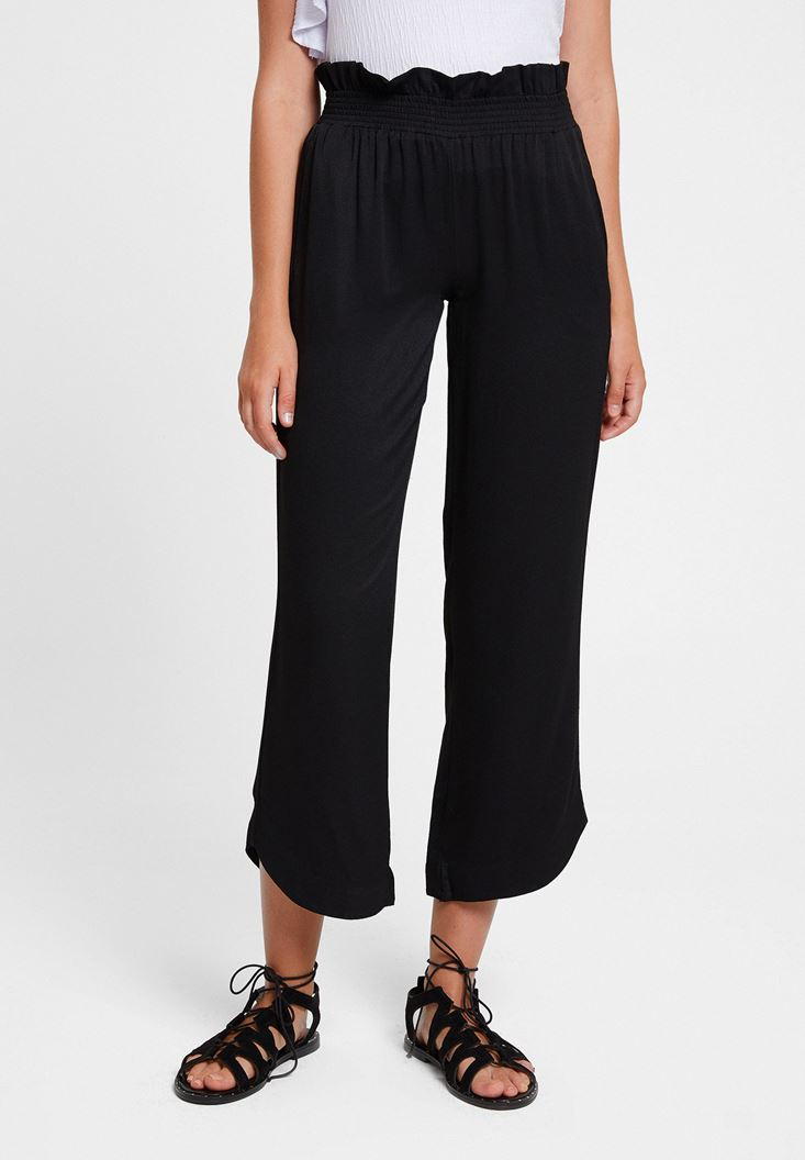 Black Pants with Elasticated Waist