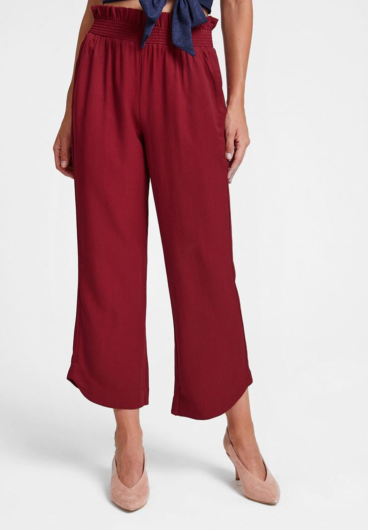 Bordeaux Pants with Elasticated Waist