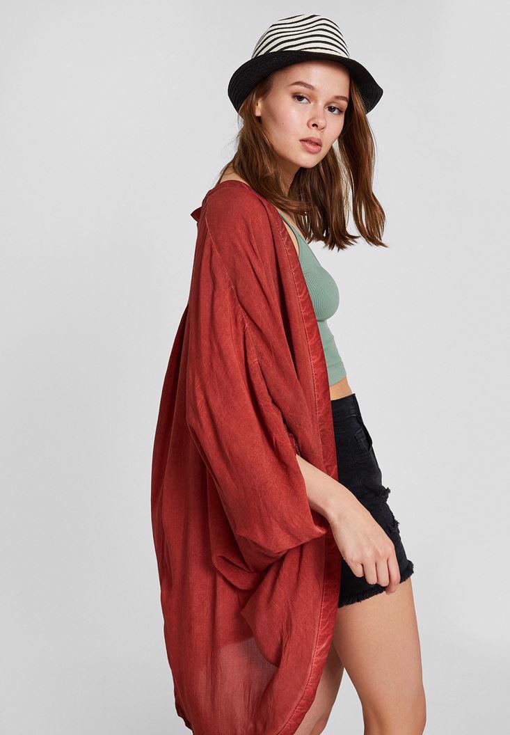 Women Red Kimono with Details