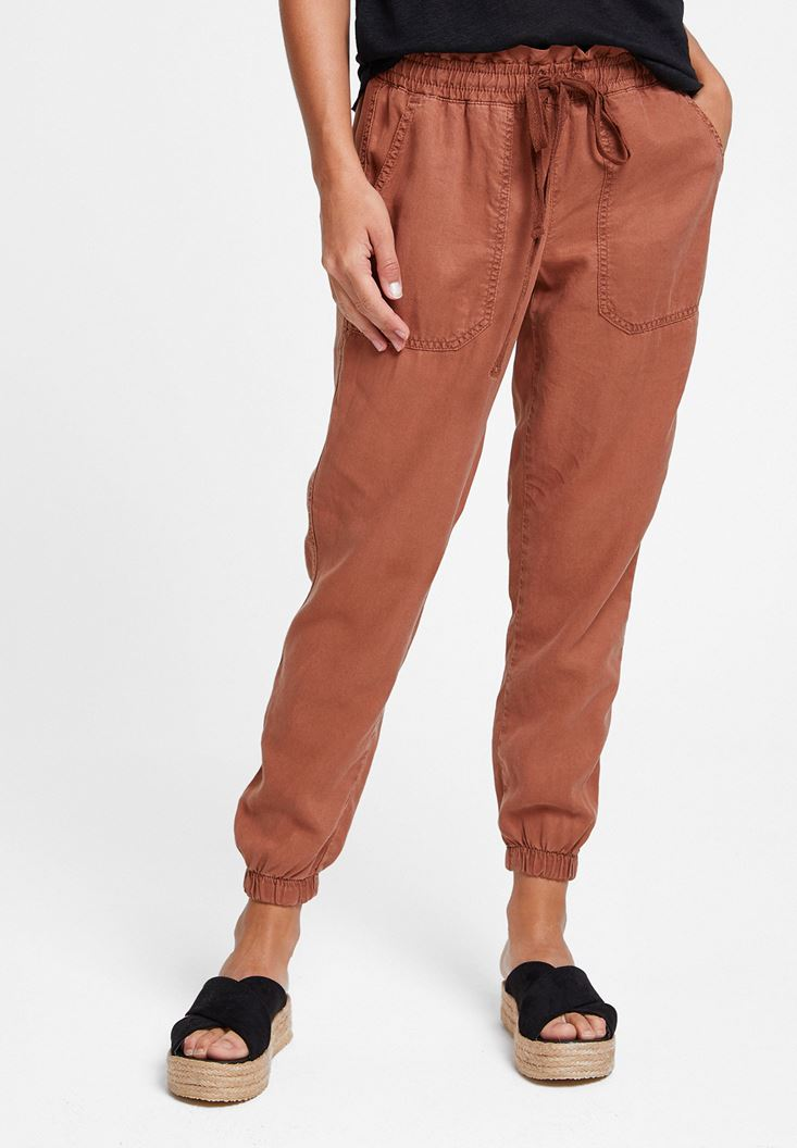 Brown Jogger with Details