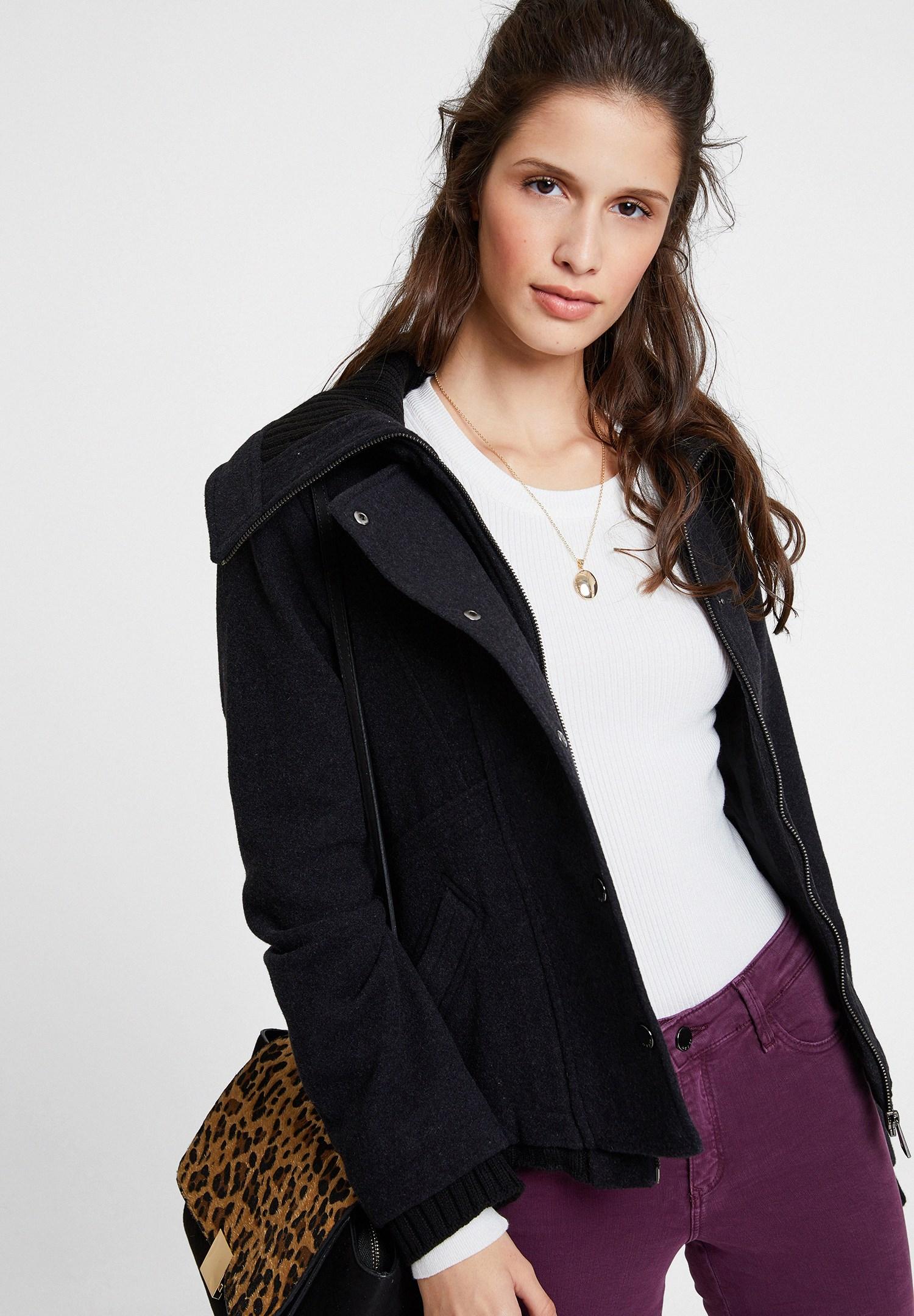 Women Black Wool Jacket