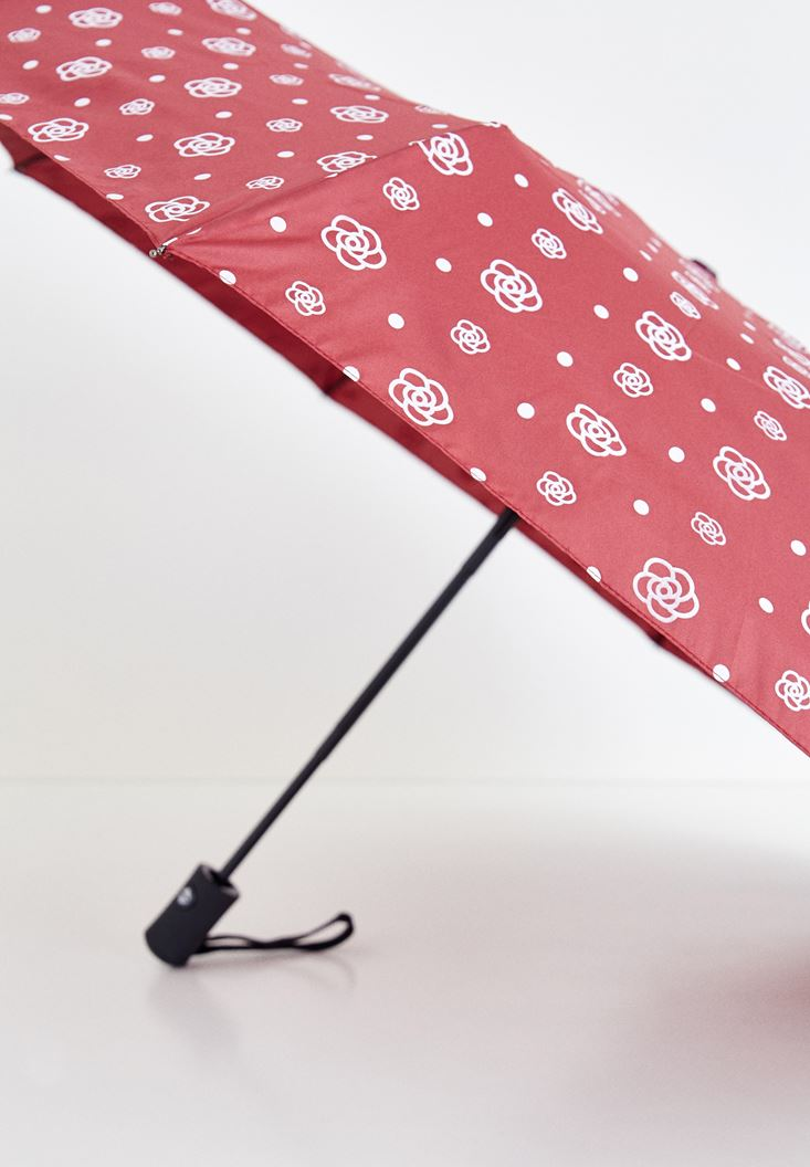 Mixed Umbrella with Flower Details