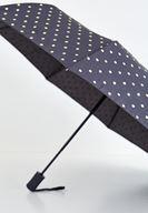 Bayan Siyah Puantiye Desenli Şemsiye