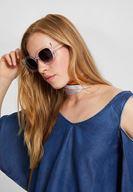 Bayan Çok Renkli Şeffaf Çerçeveli Güneş Gözlüğü
