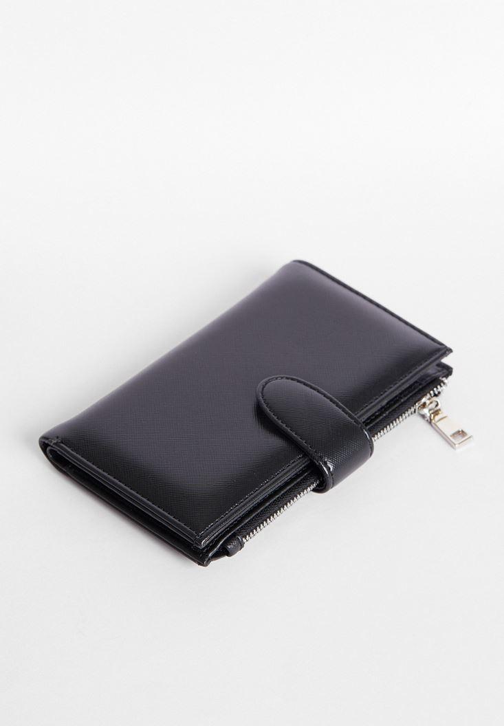 Black Wallet with Zipper