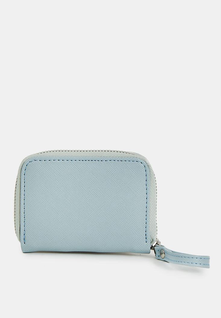 Blue Mini Wallet with Zip