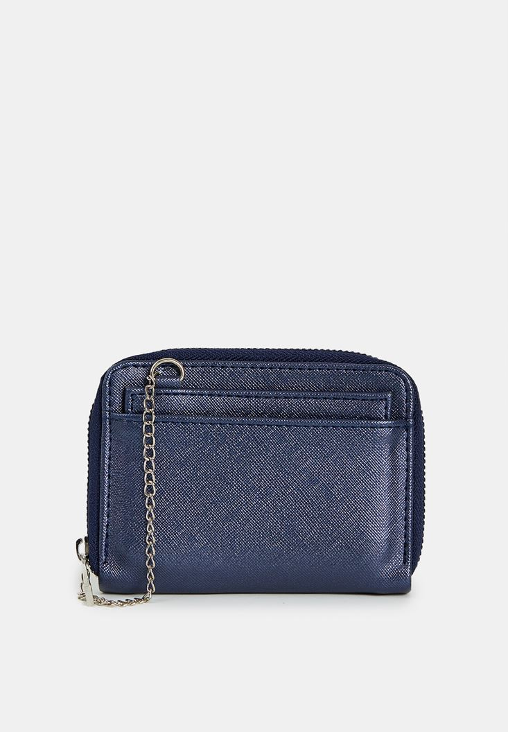 Navy Wallet with Chain