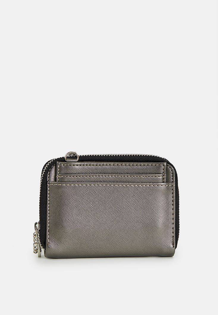 Grey Wallet with Chain