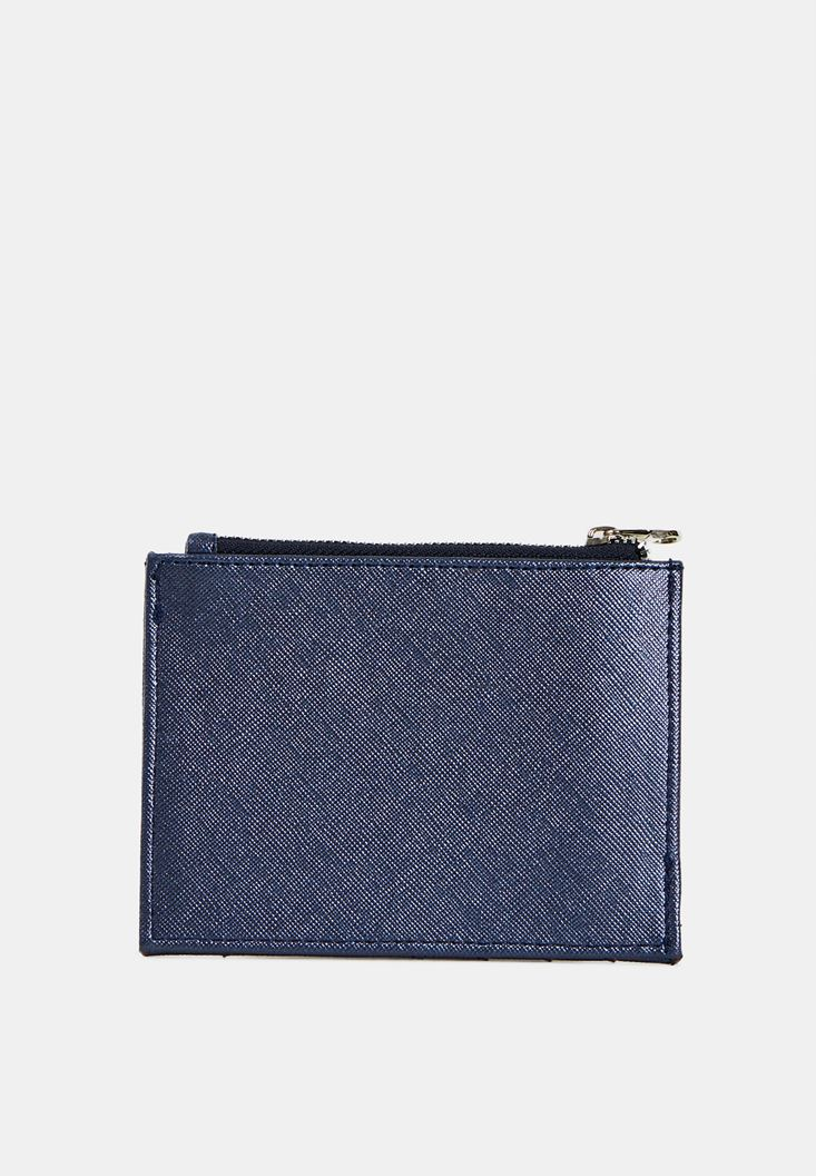 Navy Multiple Compartment Cardholder