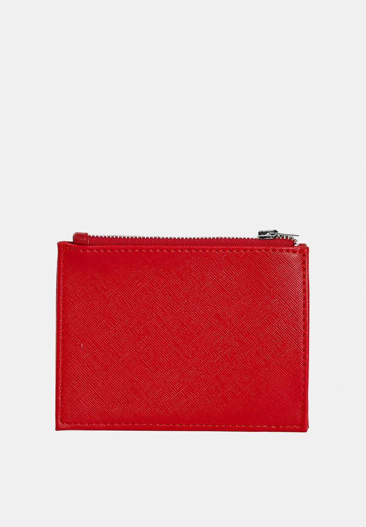Red Multiple Compartment Cardholder