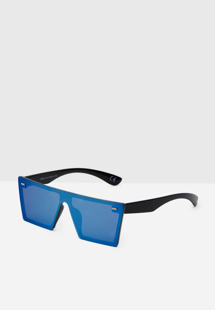 Blue Rimless Sunglasses