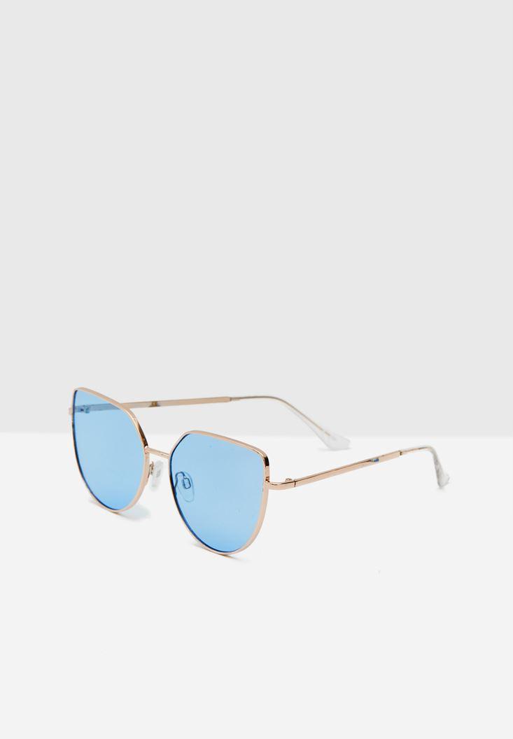 Blue Metallic Sunglasses with Coloured Lenses