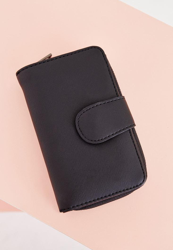 Black Wallet with Zip