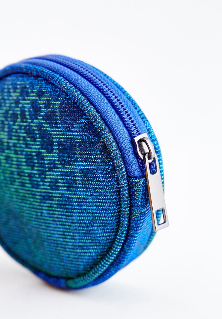 Navy Round Coin Purse