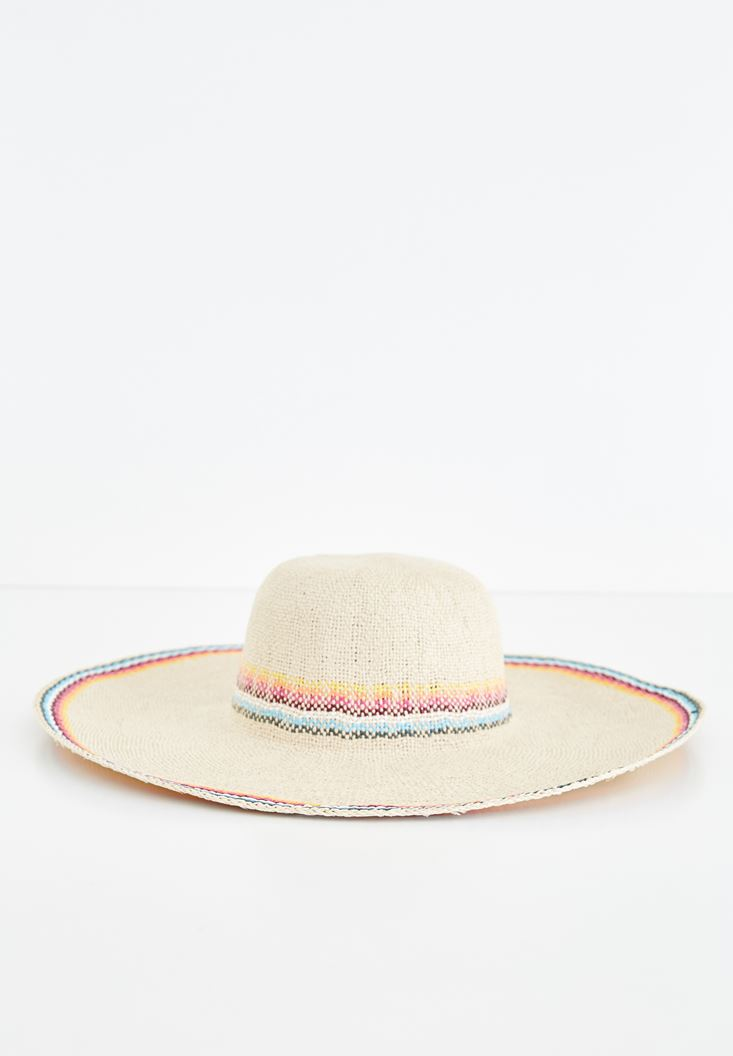 Cream Mix Color Straw Hat