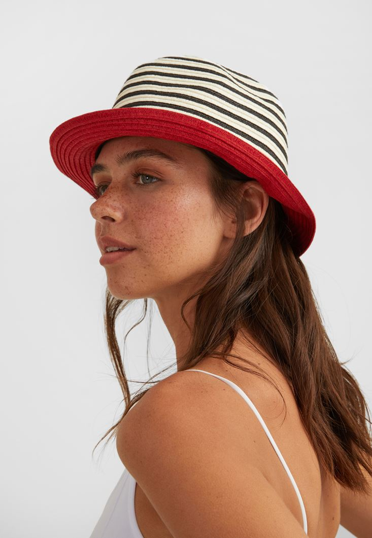 Mixed Hat with Stripe
