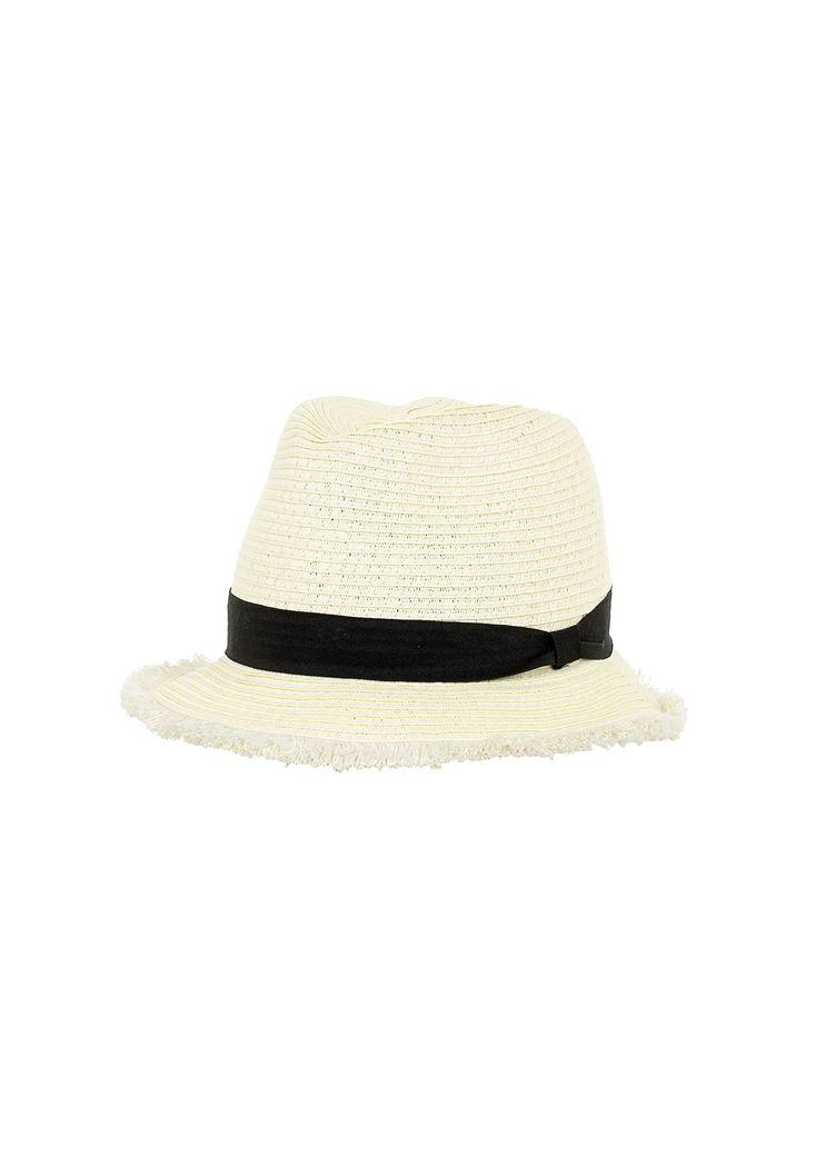 Şeritlı Hasır Şapka