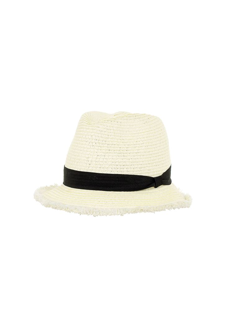 Straw Hat with Details
