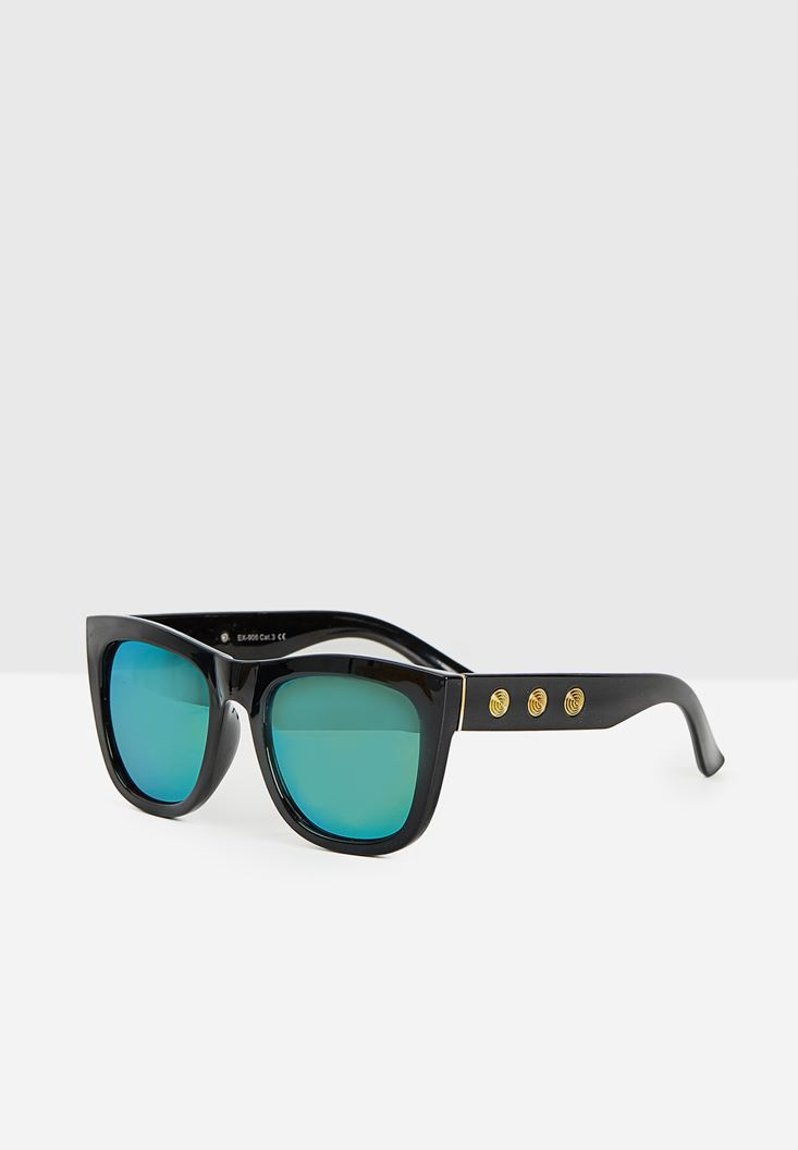 Black Colorful Sunglasses with Details
