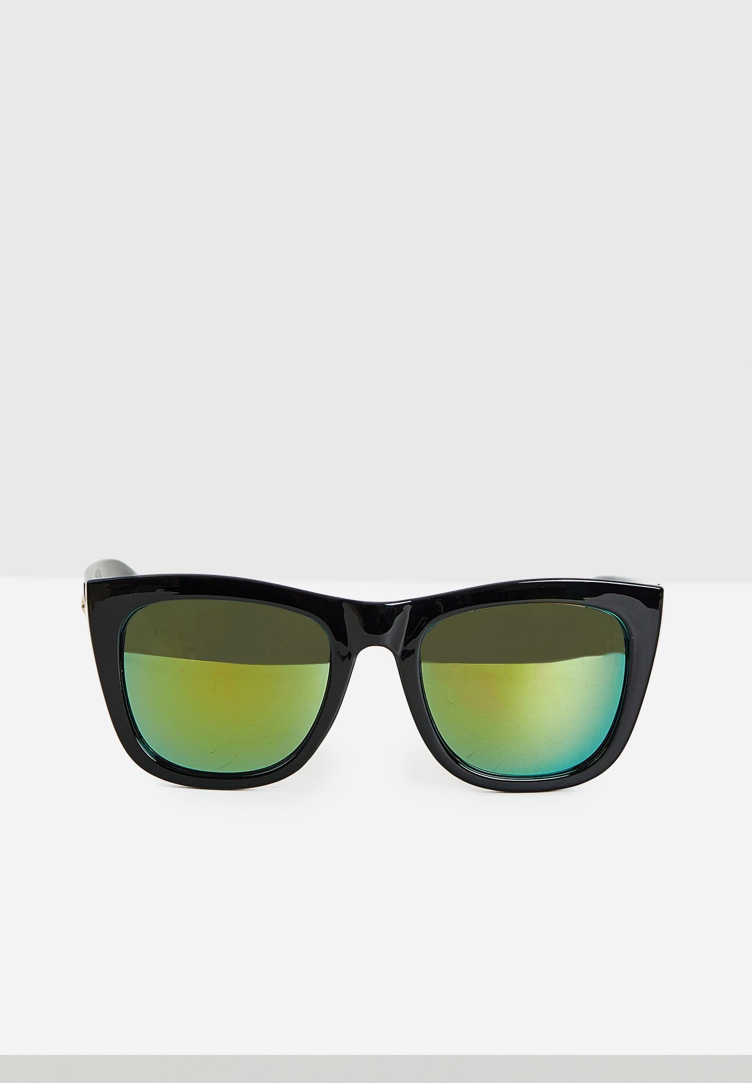 Bayan Siyah Renkli Camlı Gözlük