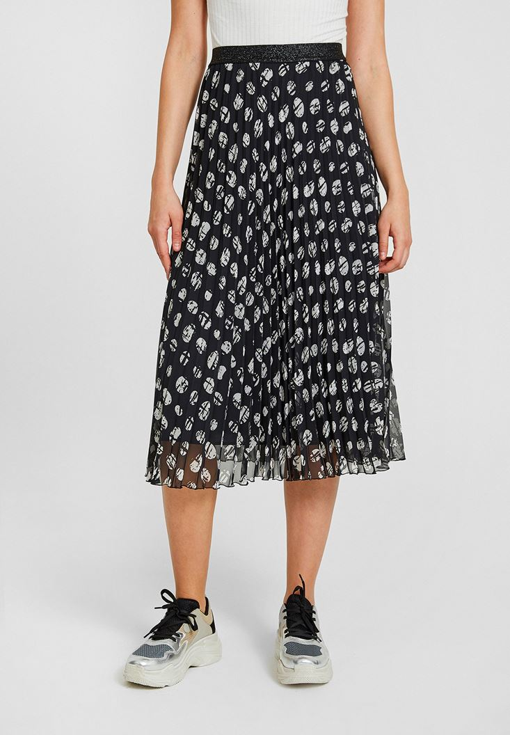 Mixed Skirt with Mix Pattern