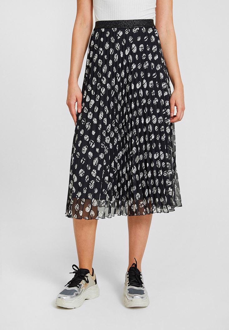 Women Mixed Skirt with Mix Pattern