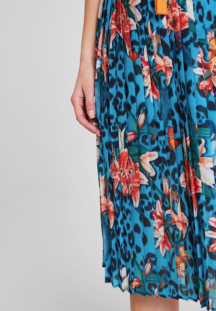 Women Mixed Mix Pattern Skirt