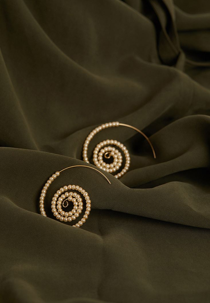 Mixed Spiral Earrings with Details