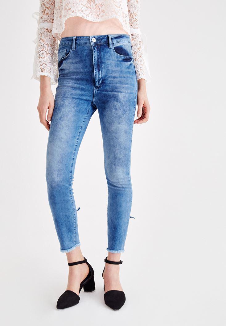 Women Blue Jean with Binding Details