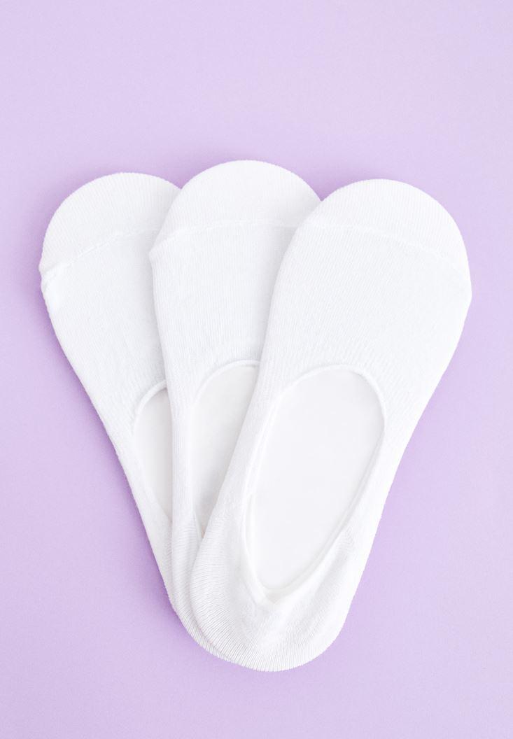 Beyaz Babet Çorabı