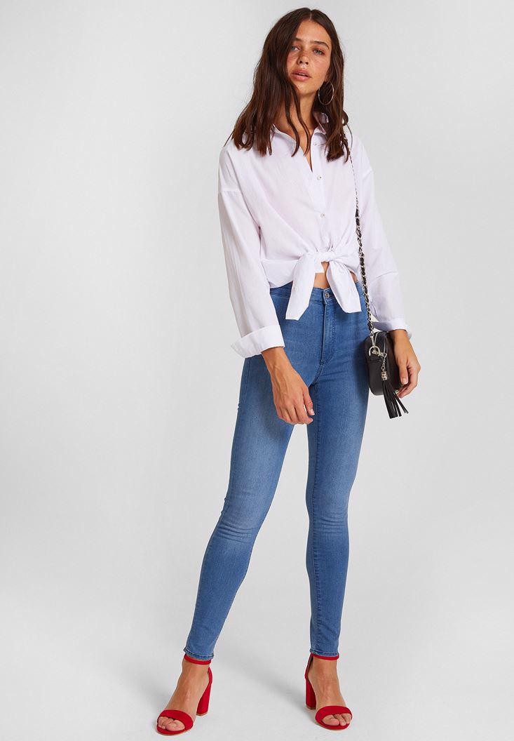 Women Blue High Rise Skinny Denim Pants