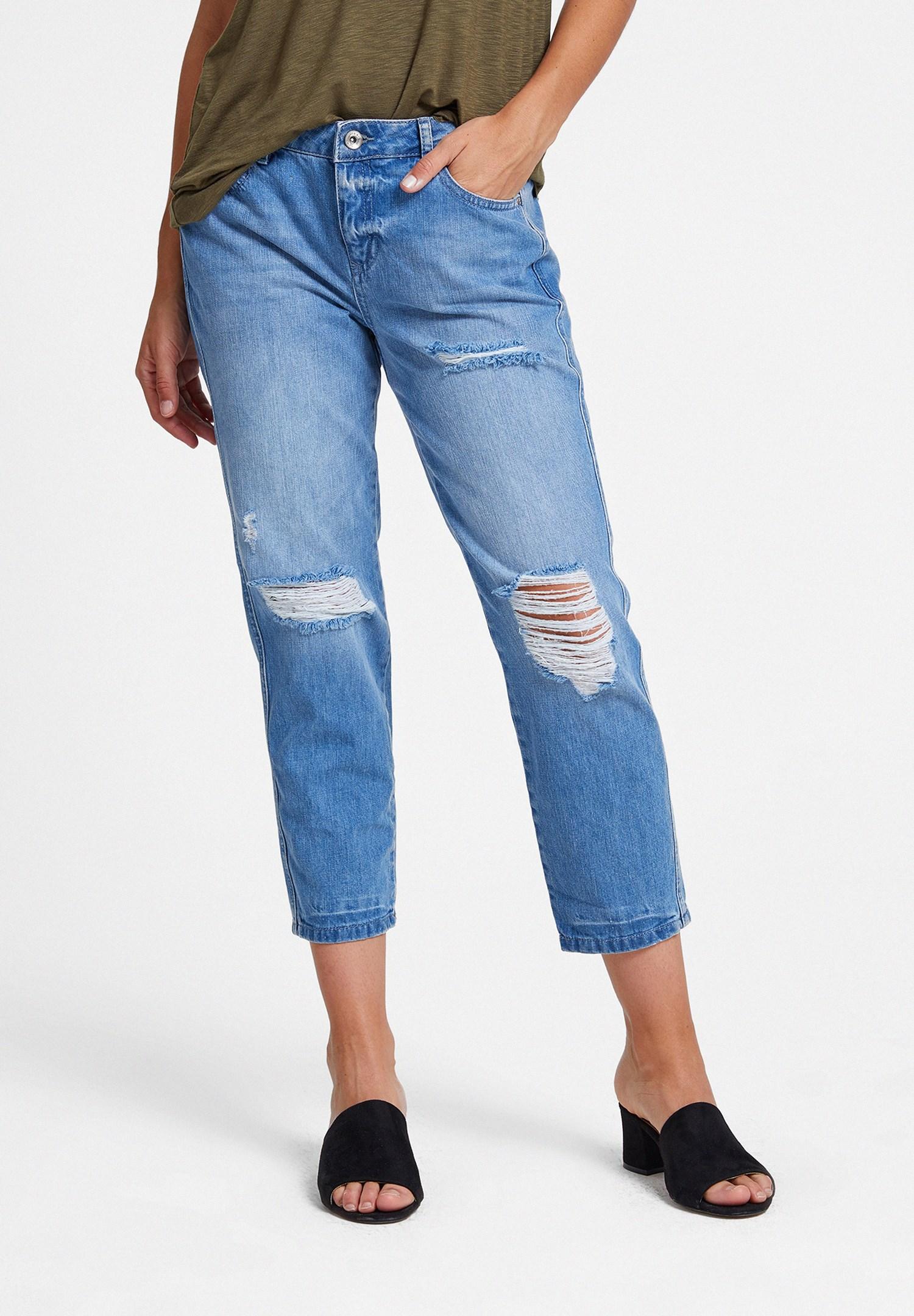 Women Blue Girlfriend Jeans