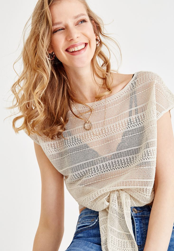 Blouse with Cord Details