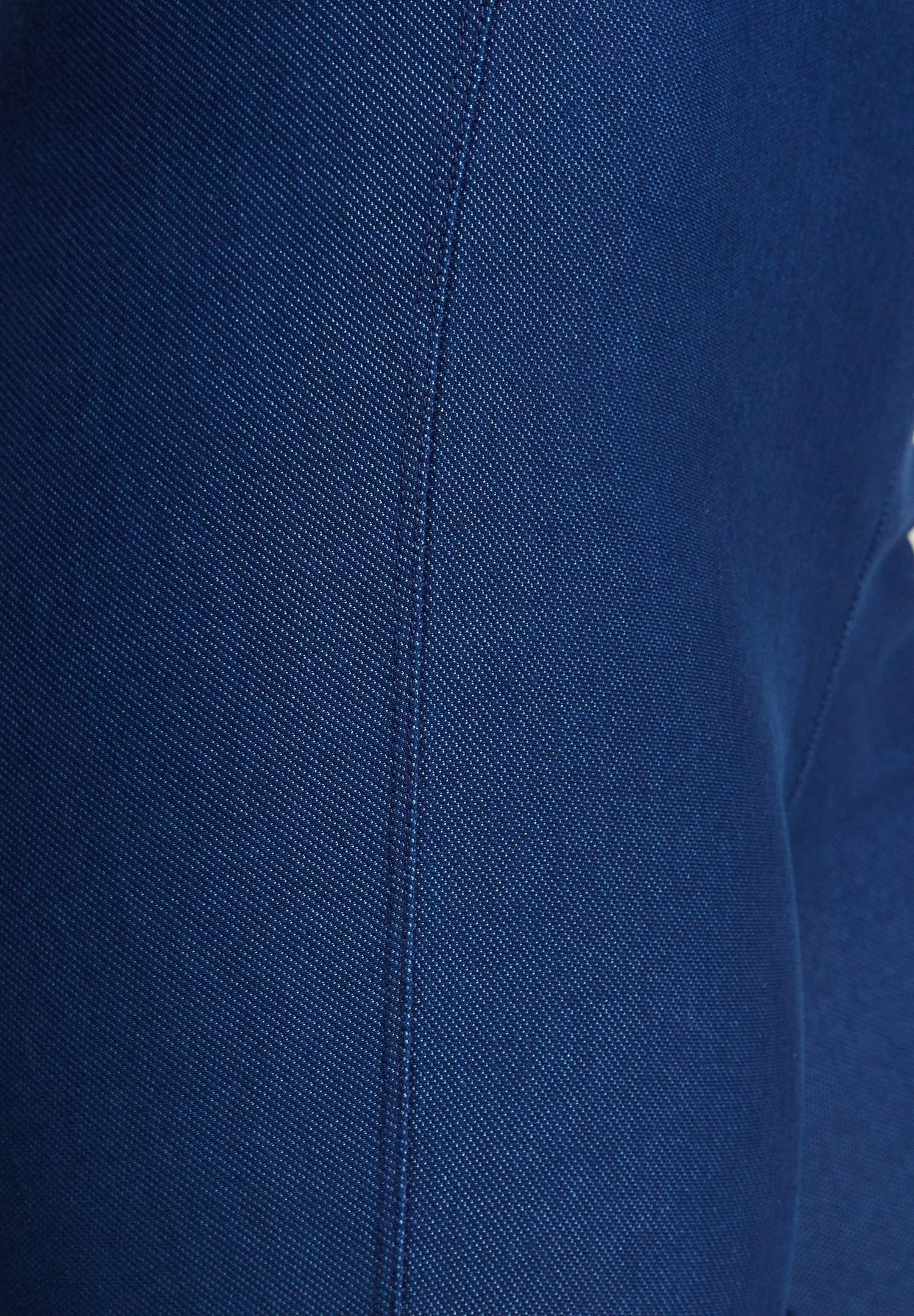 Bayan Mavi Denim Görünümlü Tayt