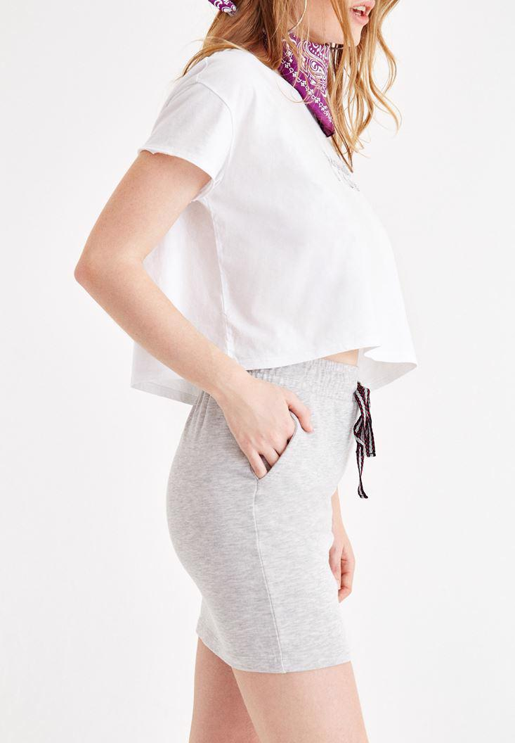 Women Grey Skirt with Pocket Detail
