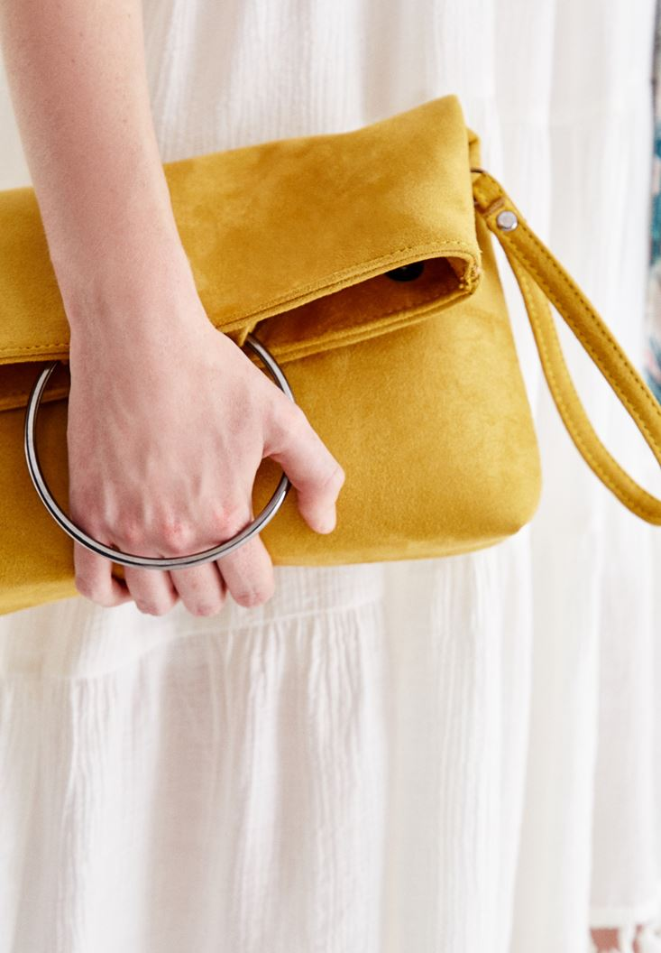 Yellow Clutch with Details
