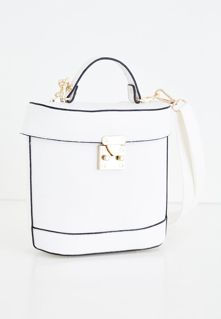 White Box Bag with Seam Detail